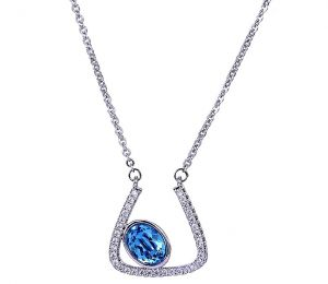 Abstract Feeling Necklace, Clear CZ