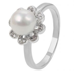 Aphrodite Pearl, Clear CZ