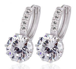 Bright love Earrings, Clear CZ