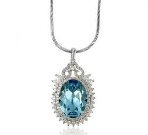 Classic Elegance Necklace, Clear CZ