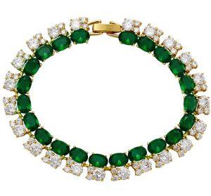 Classic Green Elegance Bracelets, Clear CZ