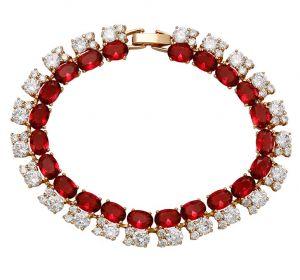 Classic Red Elegance Bracelets, Clear CZ.jpg
