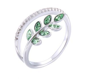 Delicate Green, Clear CZ