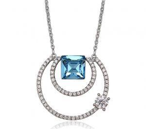 Eternal Passion Necklace, Clear CZ