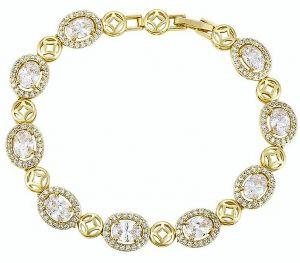 Magnificent Imperial Bracelet, Clear CZ