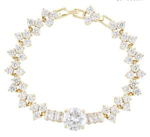 Queen's Bracelet, Clear CZ