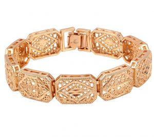Solid Love Bracelet, Clear CZ