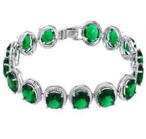 Spring Green Bracelet, Clear CZ